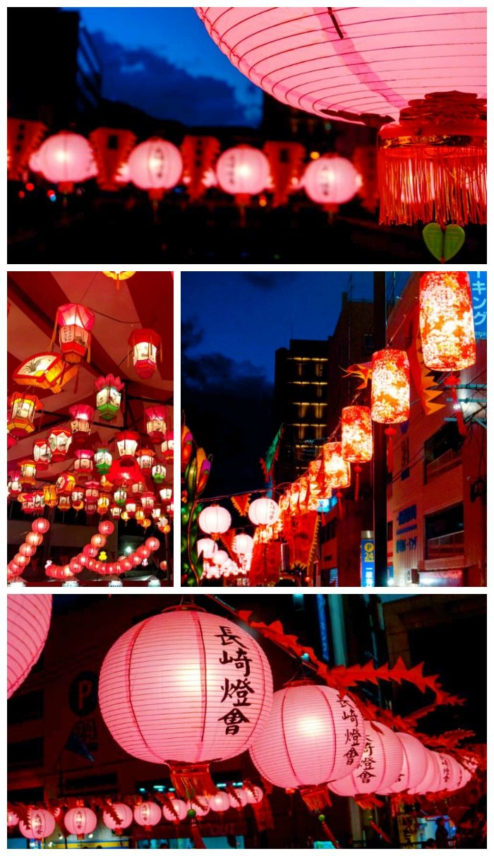Lanterns at Nagasaki Lantern Festival