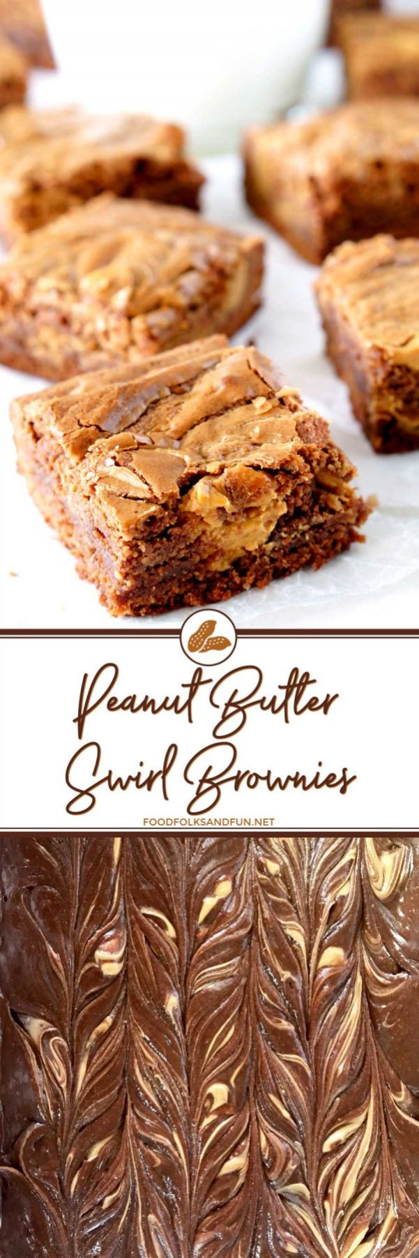 Brownie Recipe with Peanut Butter Swirl - so easy and SO good!