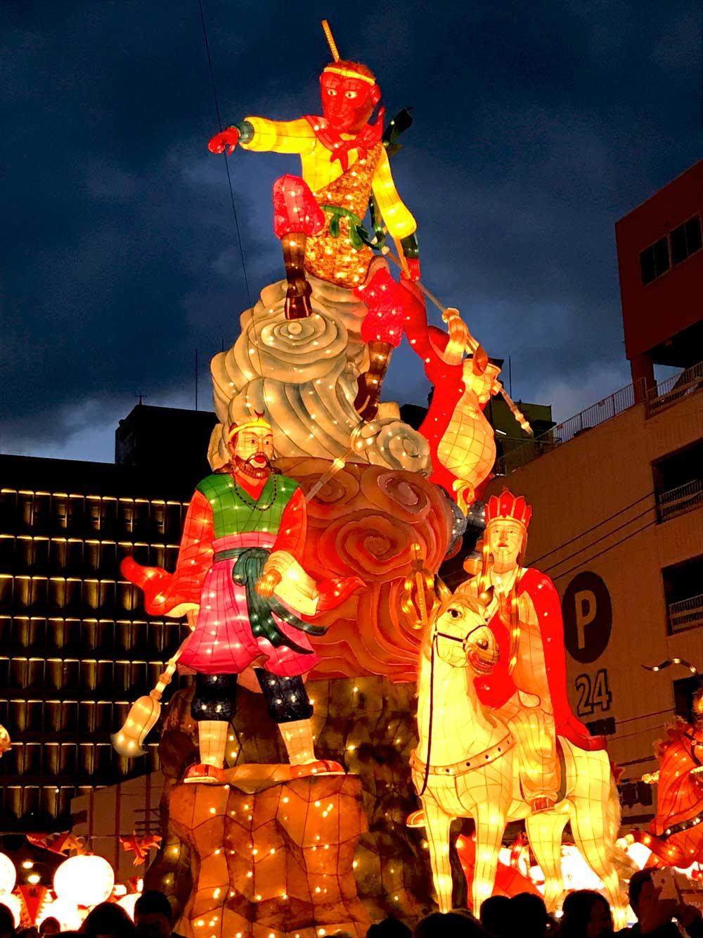Nagasaki Lantern Festival throughout the city
