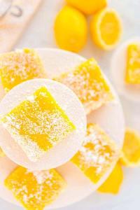 Lemon Bars cut into squares