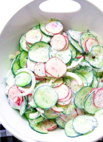The best Creamy Cucumber Salad recipe!