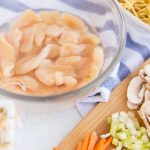 Ingredients needed for Chicken Chow Mein