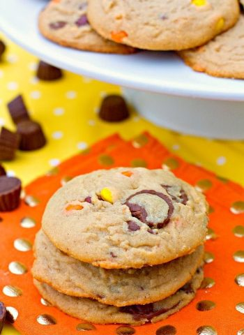 A close up of Loaded Peanut Butter Cookies