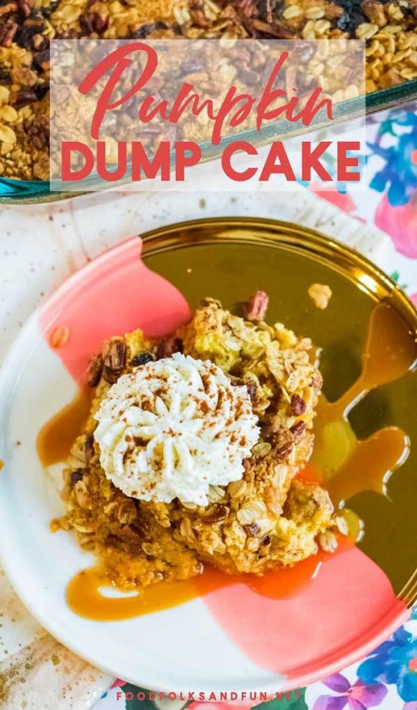 Super Easy Pumpkin Dump Cake