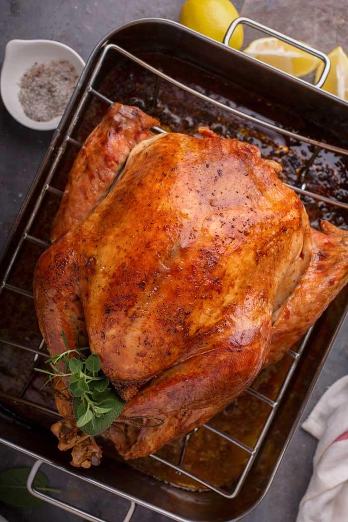 Simple Turkey Brine Amp Oven Roasted Turkey Food Folks