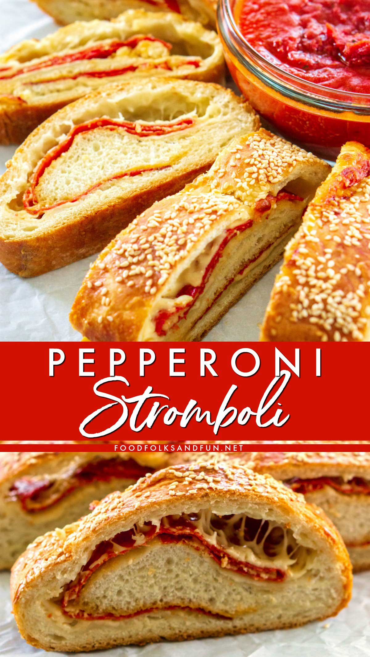 This Stromboli recipe is simple to make and easy to customize to your taste. Come see how to make stromboli in this easy-to-follow recipe!  via @foodfolksandfun