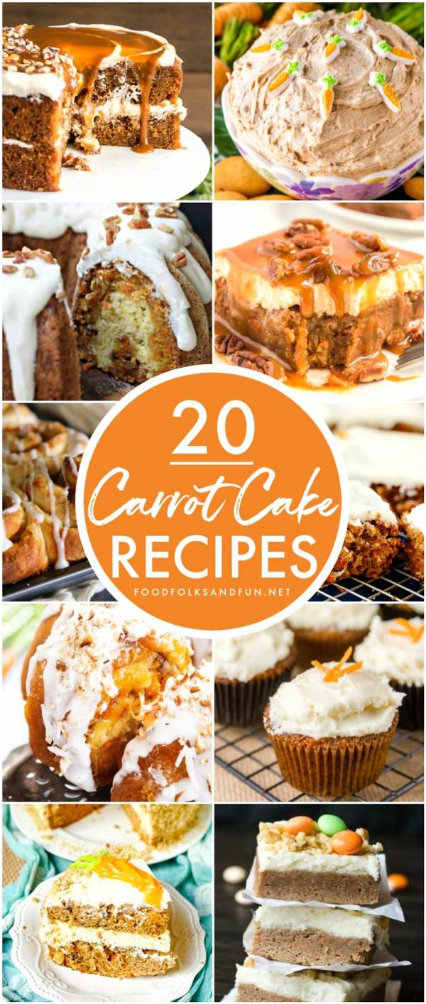 collection of carrot cake recipes