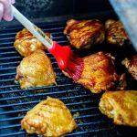 Brush the chicken with the teriyaki sauce.