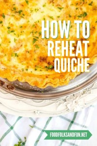 Reheating quiche image for Pinterest