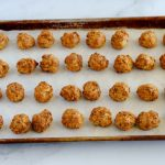 Bake the balls until they are lightly browned.