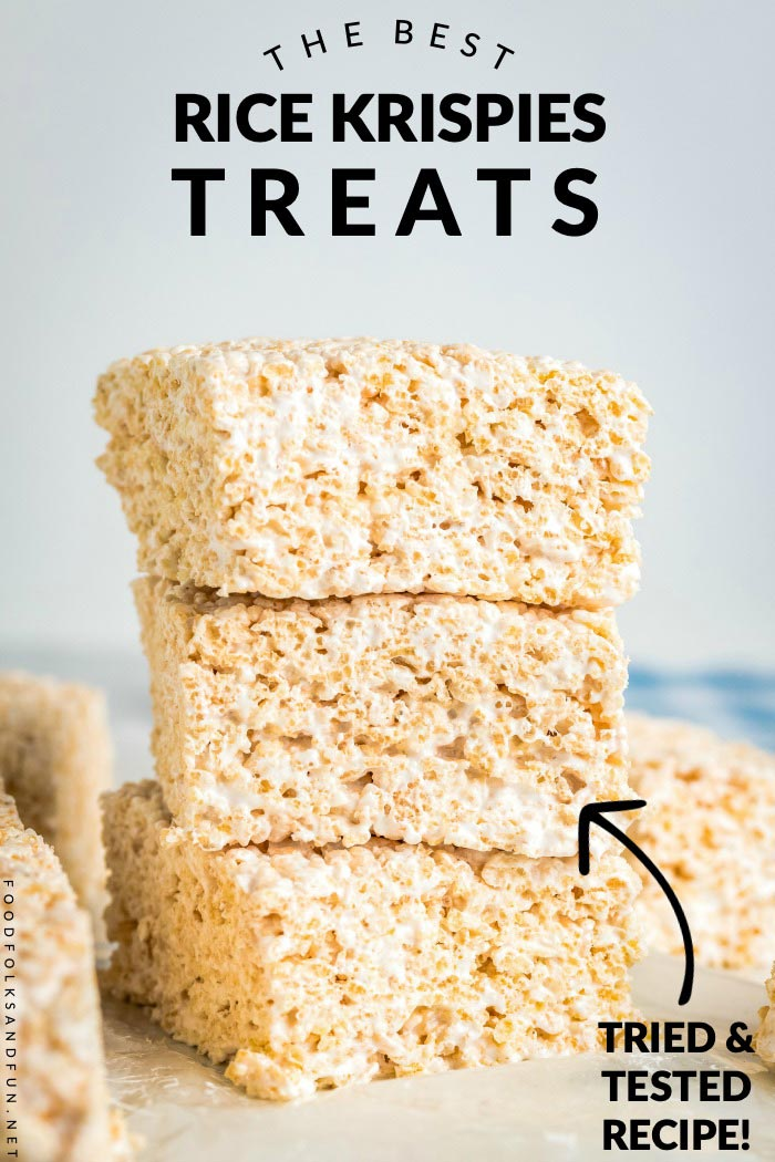 This homemade Rice Krispies Treats recipe is the best and made with a secret ingredient! This recipe serves 24 and costs just 48¢ per serving! via @foodfolksandfun