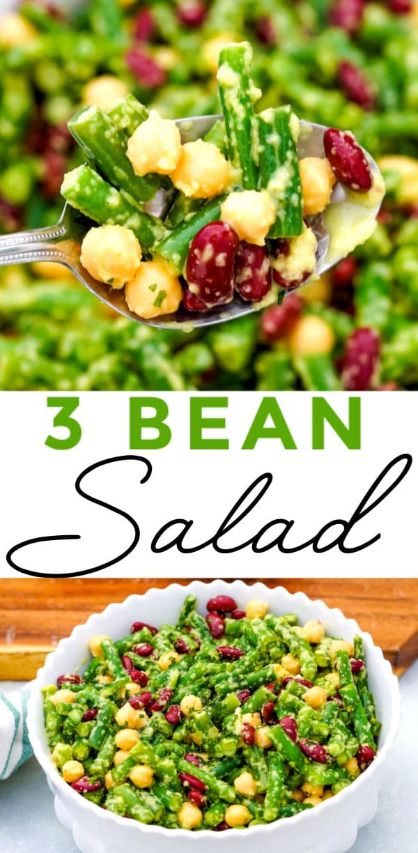 This Three Bean Salad recipe with Vidalia Onion Dressing is a classics side dish that's easy to make and always a crowd-pleaser. via @foodfolksandfun