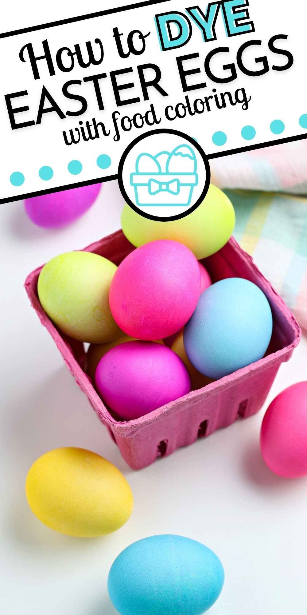 Learn How to Dye Easter Eggs with Food Coloring in this easy tutorial. Ditch the Easter eggs dyeing kit and do it from scratch instead!  via @foodfolksandfun