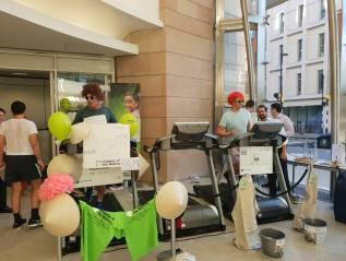 Staff At BNP Paribas Raise £5,553.52 In Treadmill Challenge
