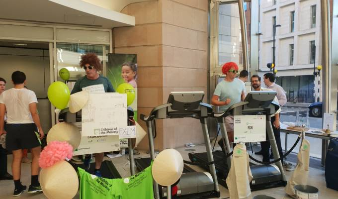 Staff At BNP Paribas Raise £5,553.52 In Treadmill Challenge