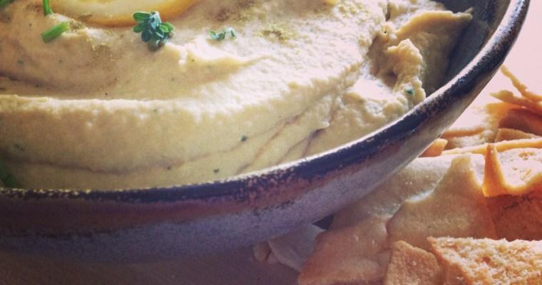 Homemade Hatch Green Chili Hummus