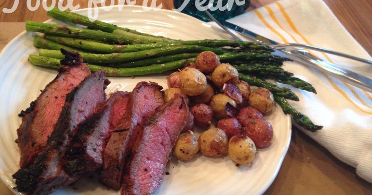 Jalapeño Ginger Honey-Seared Flat Iron Steaks = YUM.