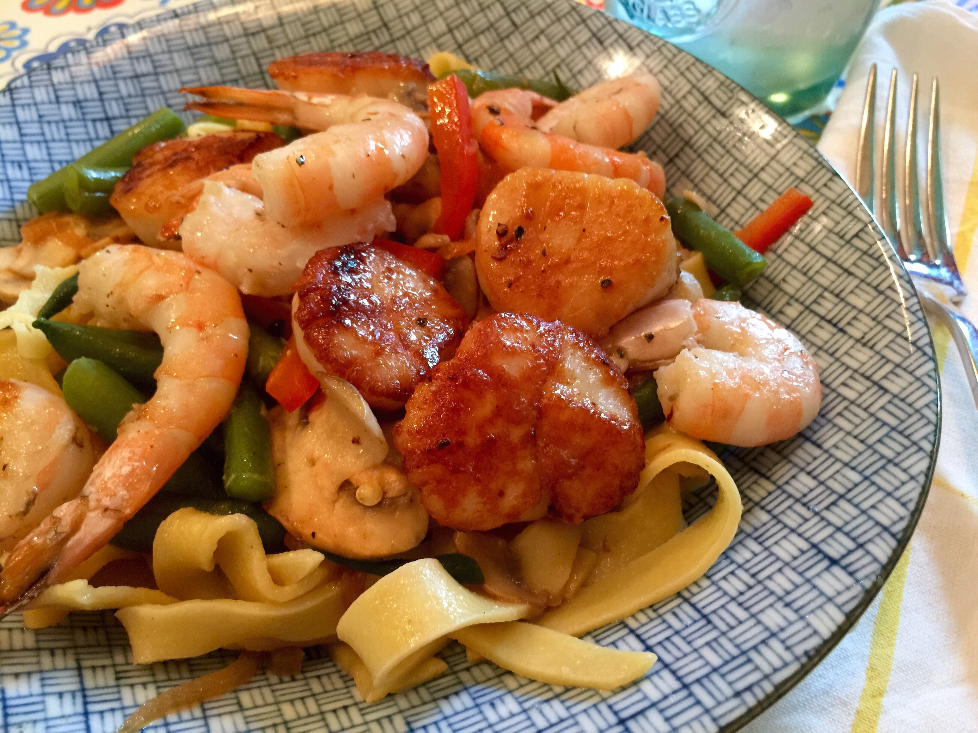 Summer Seafood Pasta — where's the beach??!