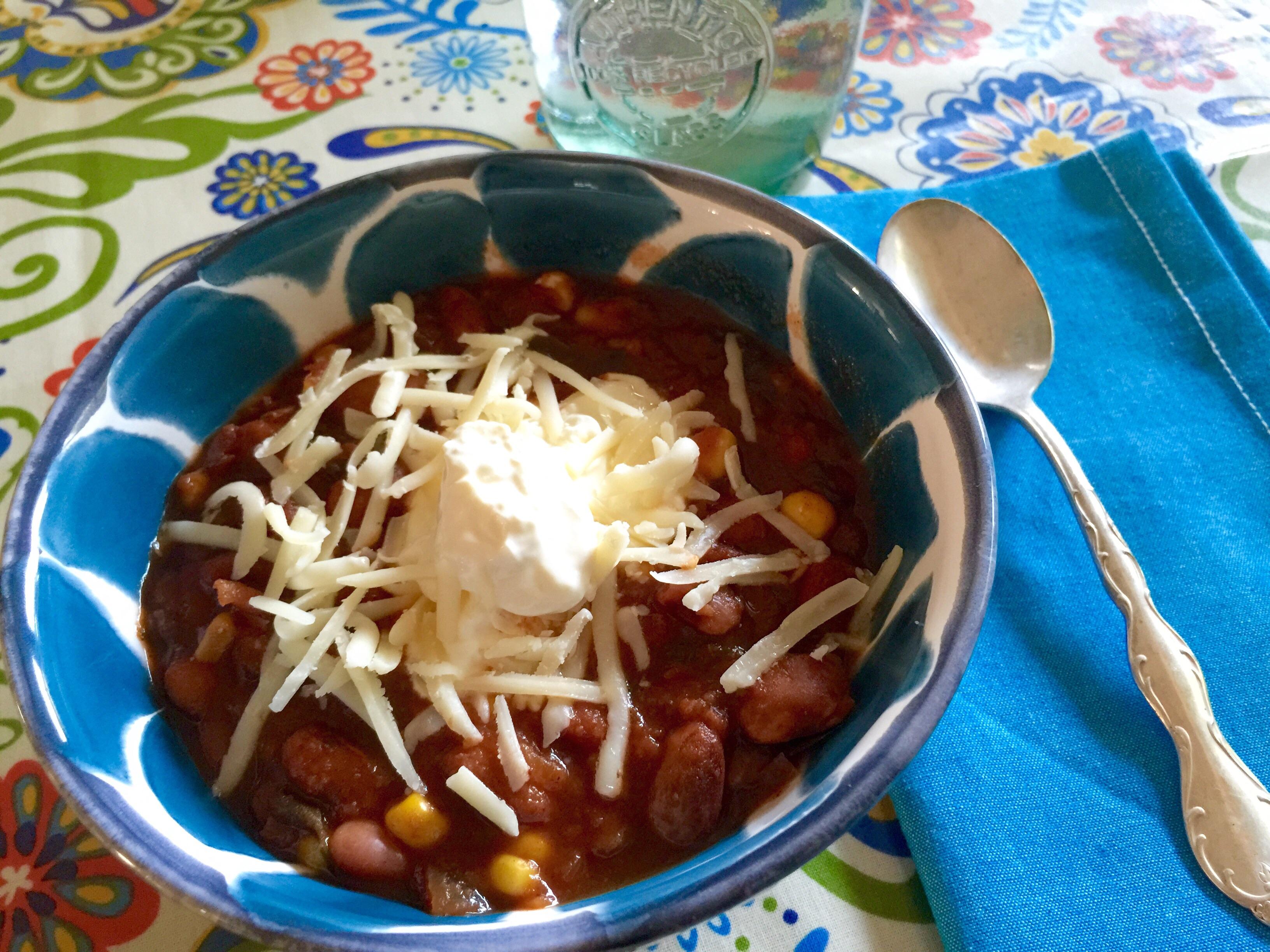 No-Peek Meatless Taco Soup
