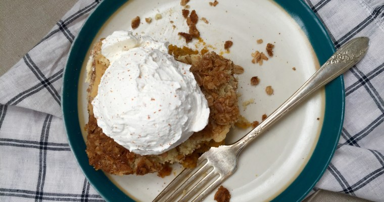 """Pumpkin Pie Crunch Cake — THE Dessert you have been looking for! (Part 1 of the """"Busy Mom Approved"""" recipe series)"""