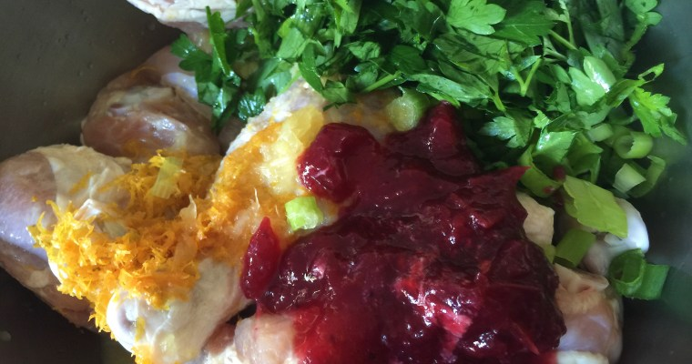 """Cranberry Orange Chicken ((Part 6 of the """"BUSY Mom Cooks"""" recipe series))"""