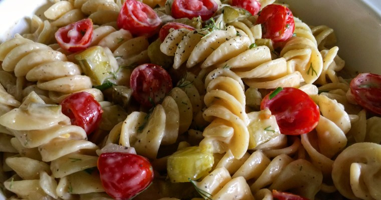 Dill Pickle Pasta Salad