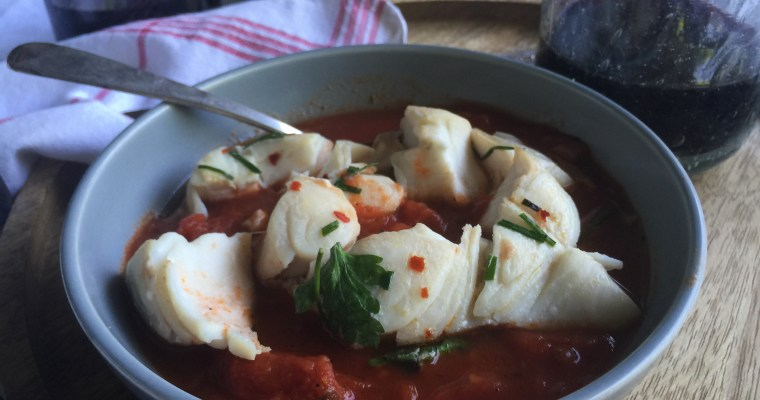 Simple Spicy Marinara with Herbed Halibut en Papillote – New FFAY recipe for Sinkology