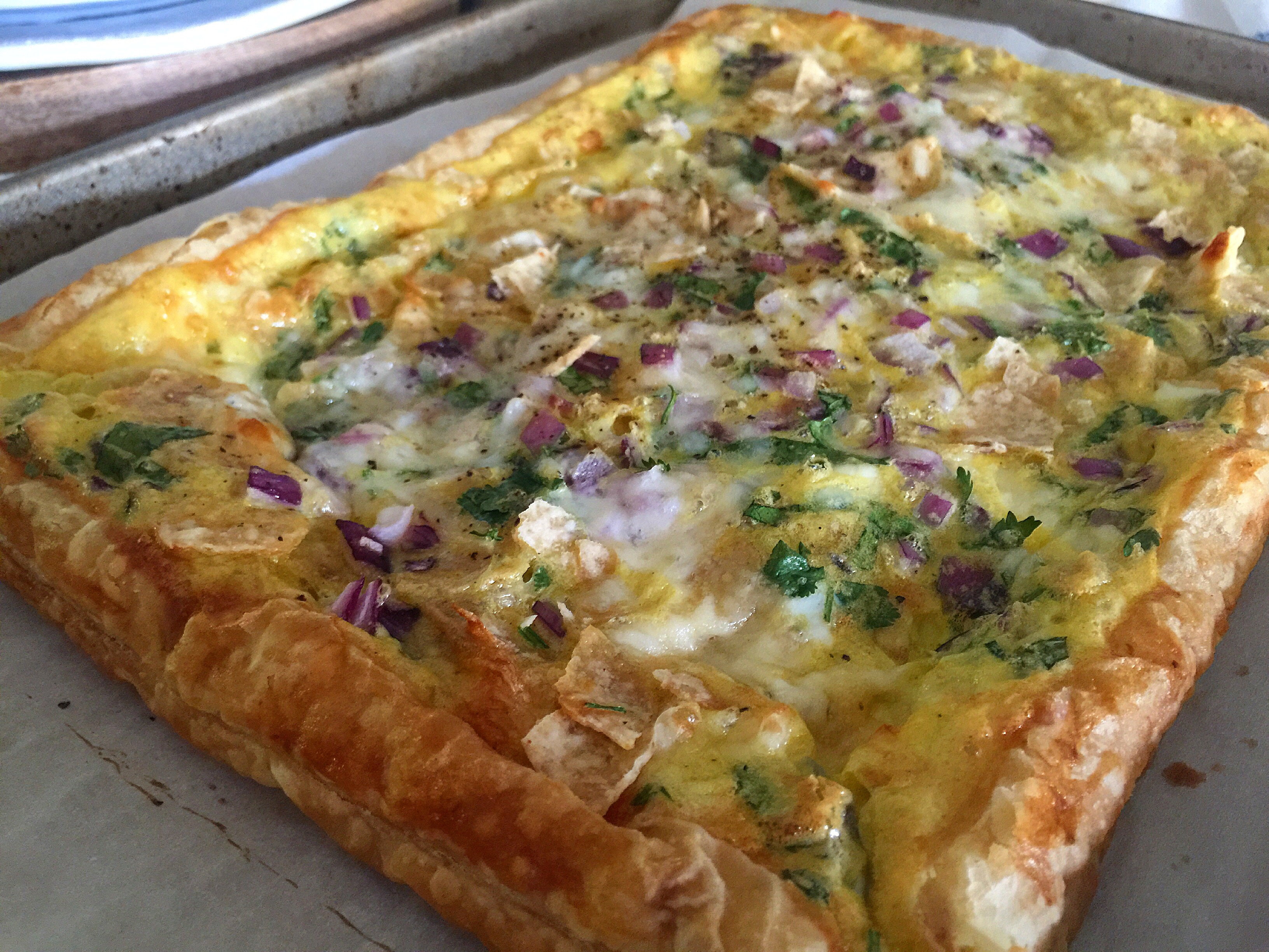 Huevos Verdes Rancheros Puff Pastry – a FFAY recipe for Sinkology