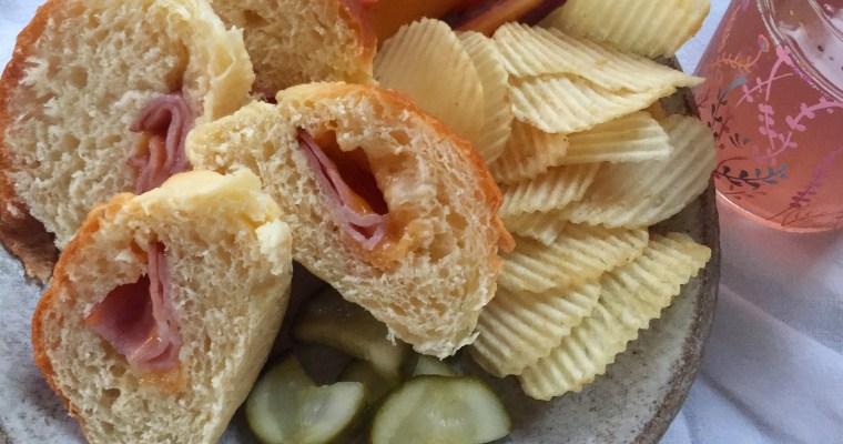 (((EASY))) Homemade Ham & Cheese Stuffed Buttermilk Rolls
