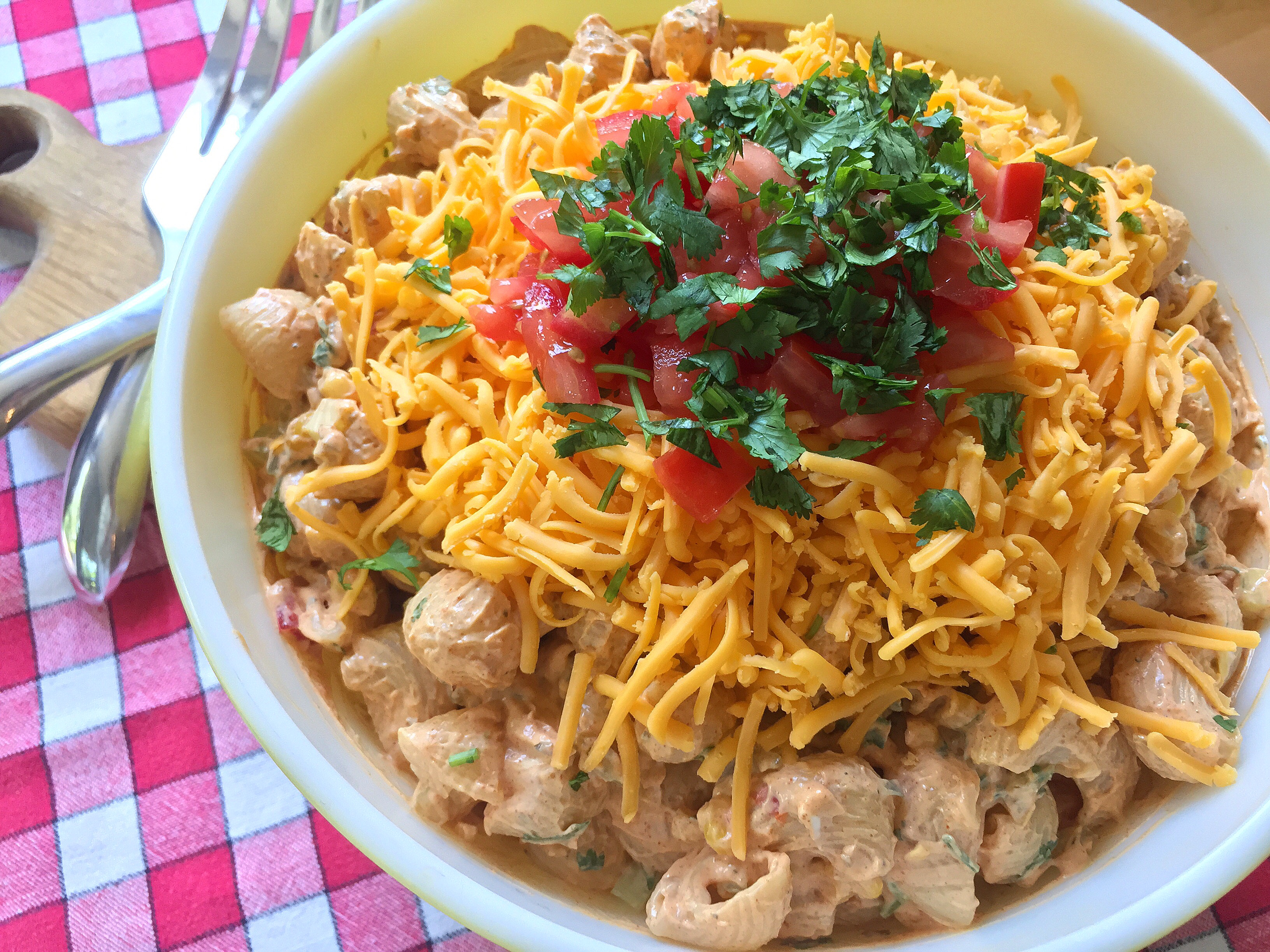 Creamy Loaded Taco Pasta Salad