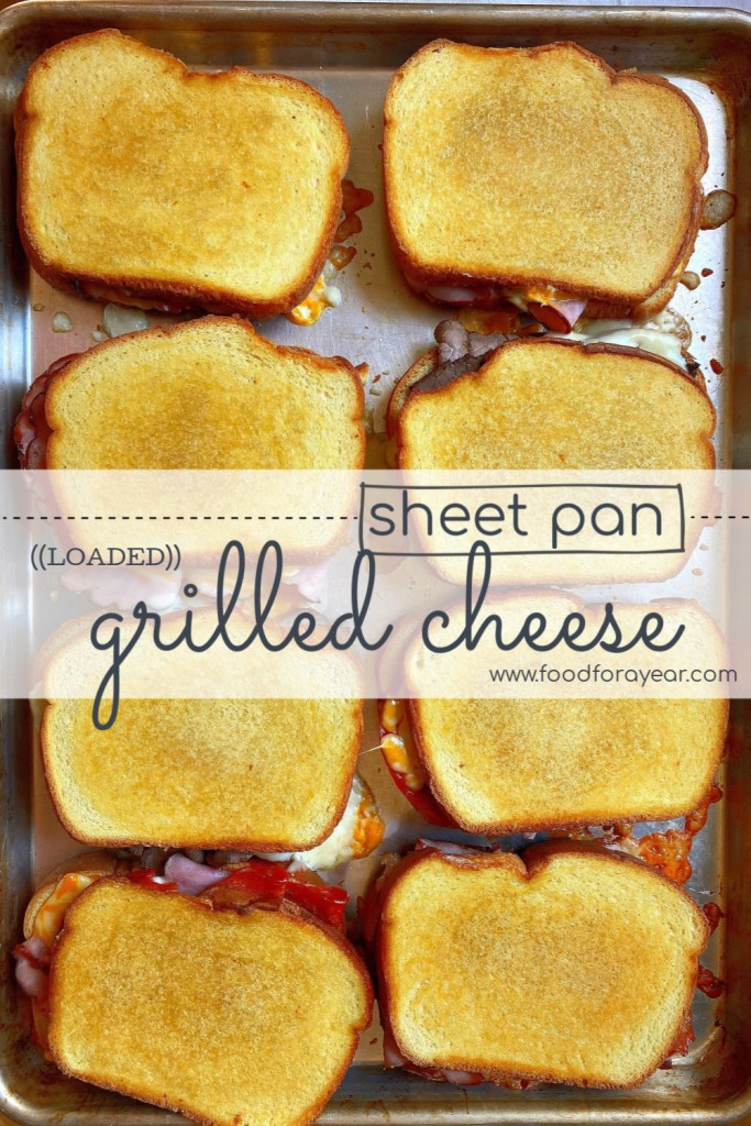 finished sheet pan grilled cheese photo