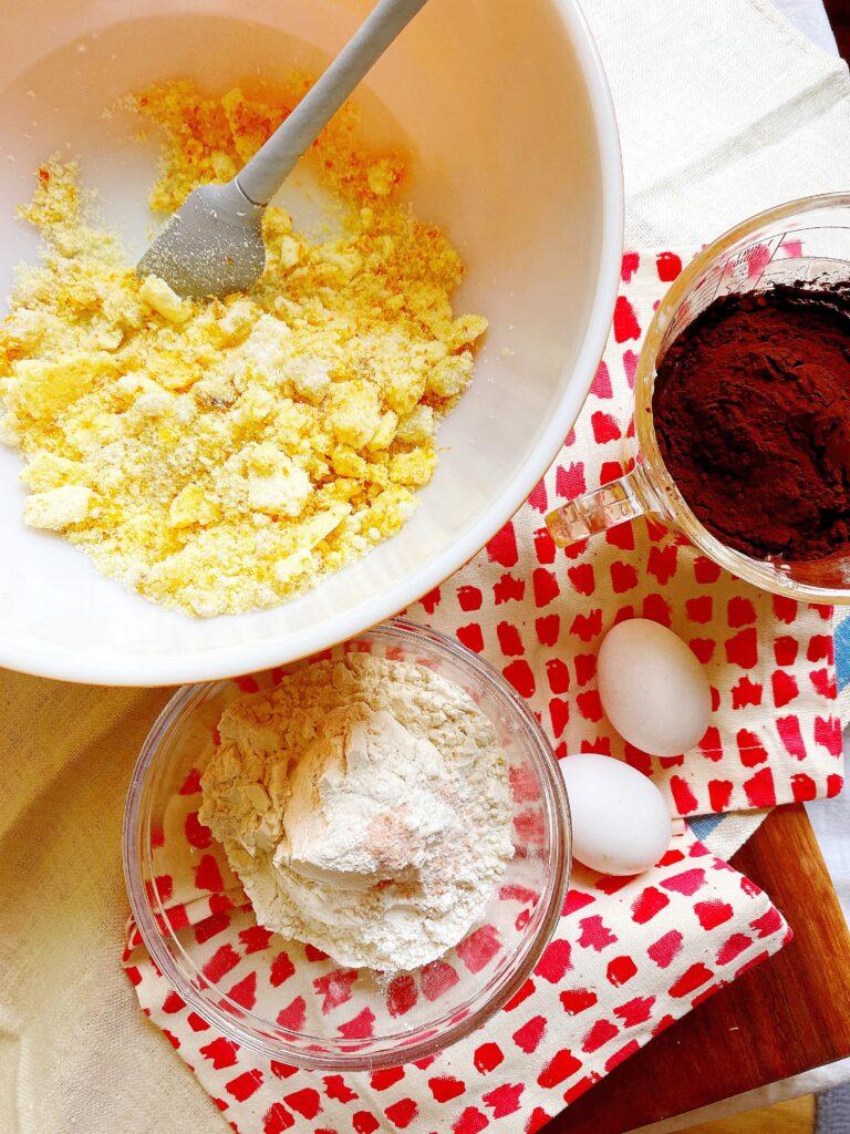 chocolate orange brownies ingredients