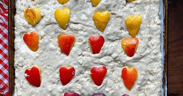 Apple Cinnamon + Oat Sheet Pan Pancakes