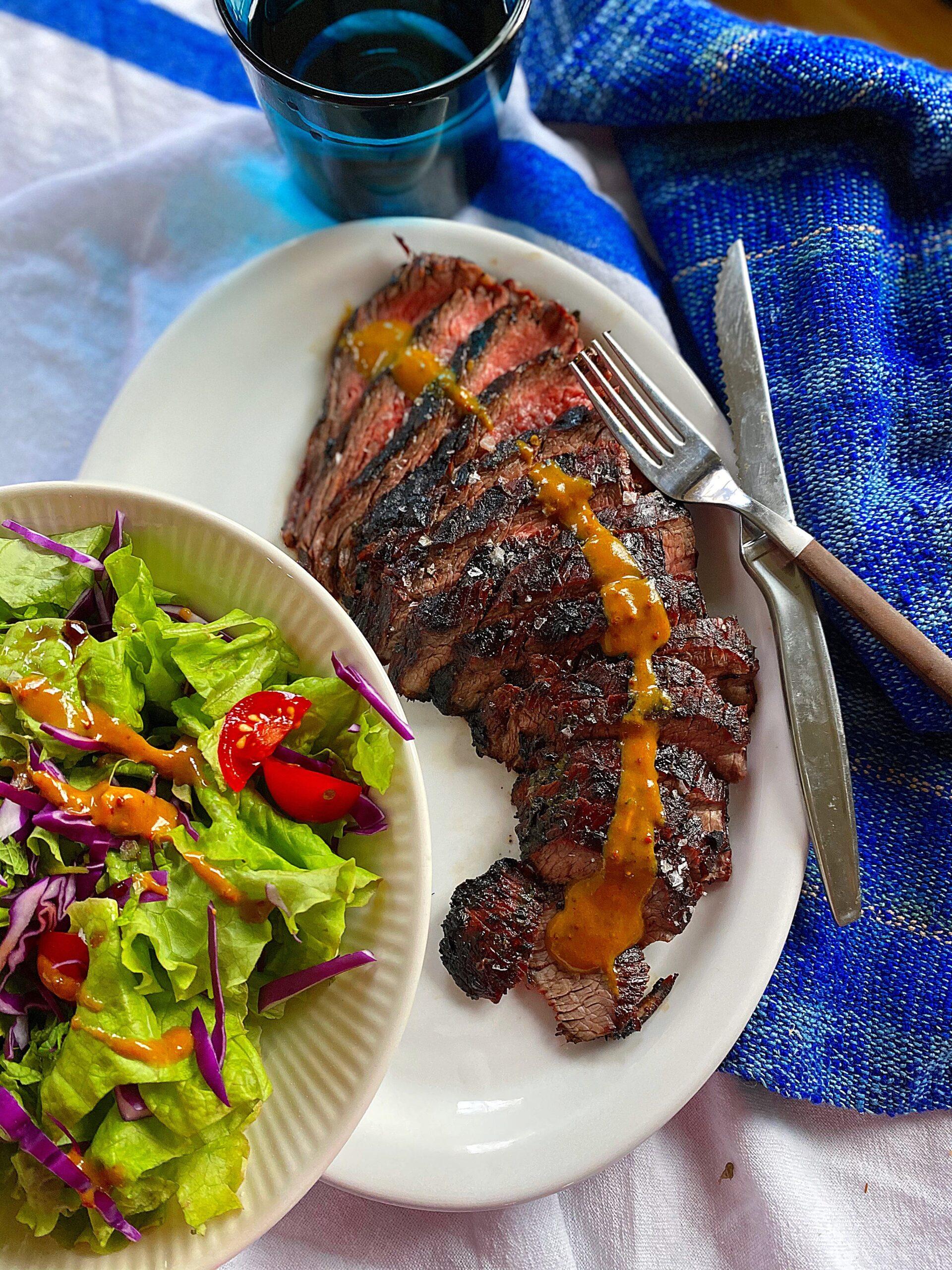 Grilled Ginger Balsamic Flank Steak