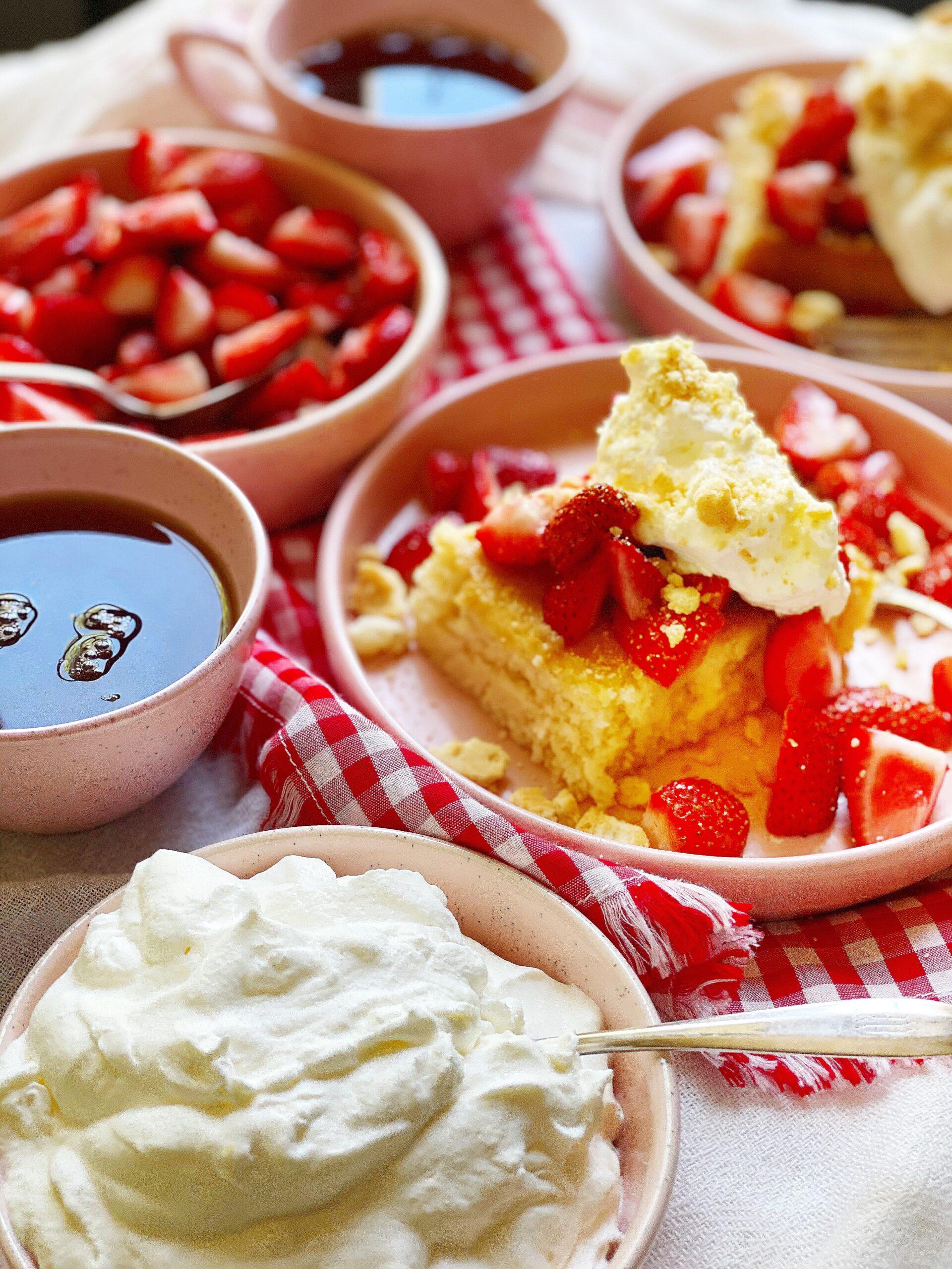 Strawberry Shortcake Sheet Cake