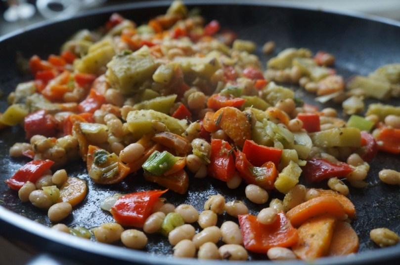 Bohnen-Gemüse-Strudel