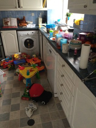 All toys were moved to the kitchen to minimise distraction!
