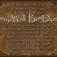 God, Thy Will Be Done....