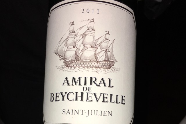 2011 Chateau Beychevelle 'Amiral de Beychevelle', Saint-Julien, France | DC Restaurant | Food For Thought