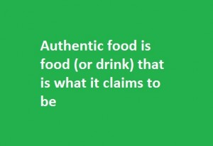 authentic food definition