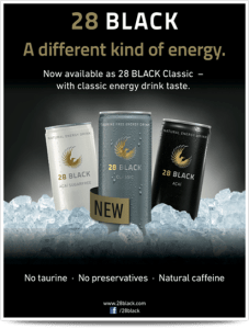 energy drink claim label natural caffeine