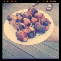 Easy Appetizer Alert! Bacon Wrapped Dates!