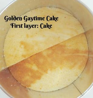 Building your Golden Gaytime Cake: 1
