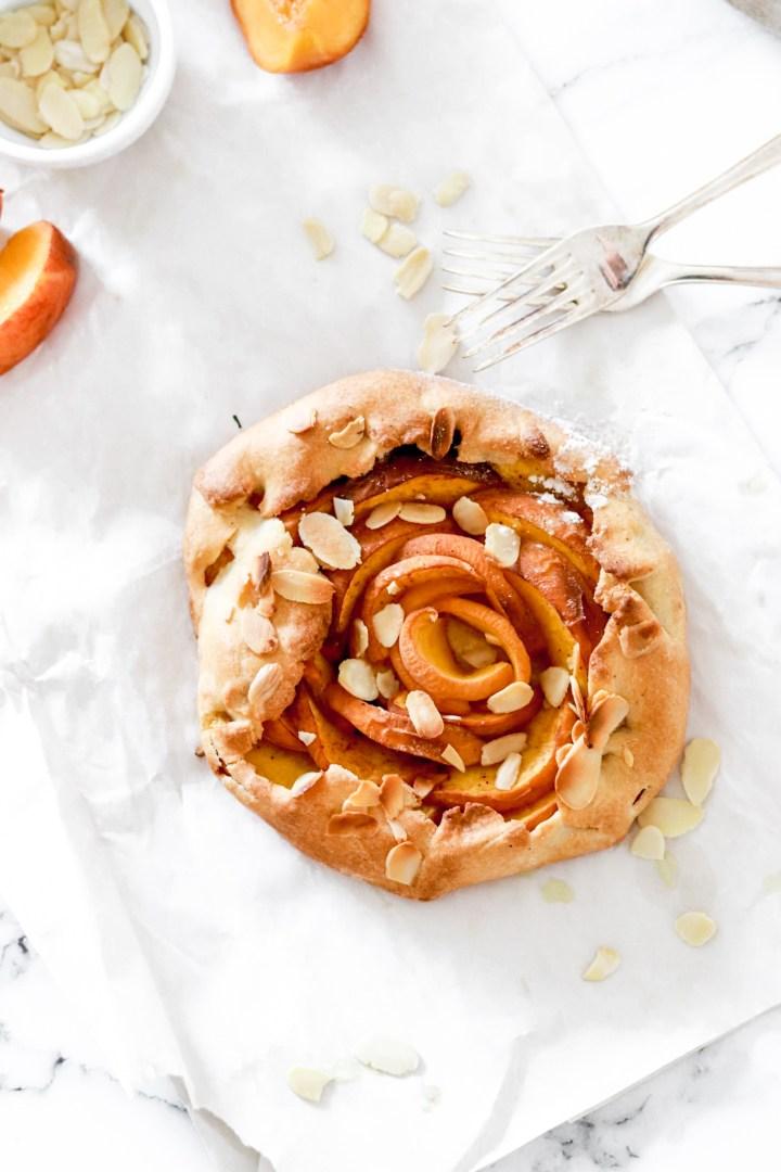 Peach Galette (No sugar, less fat)