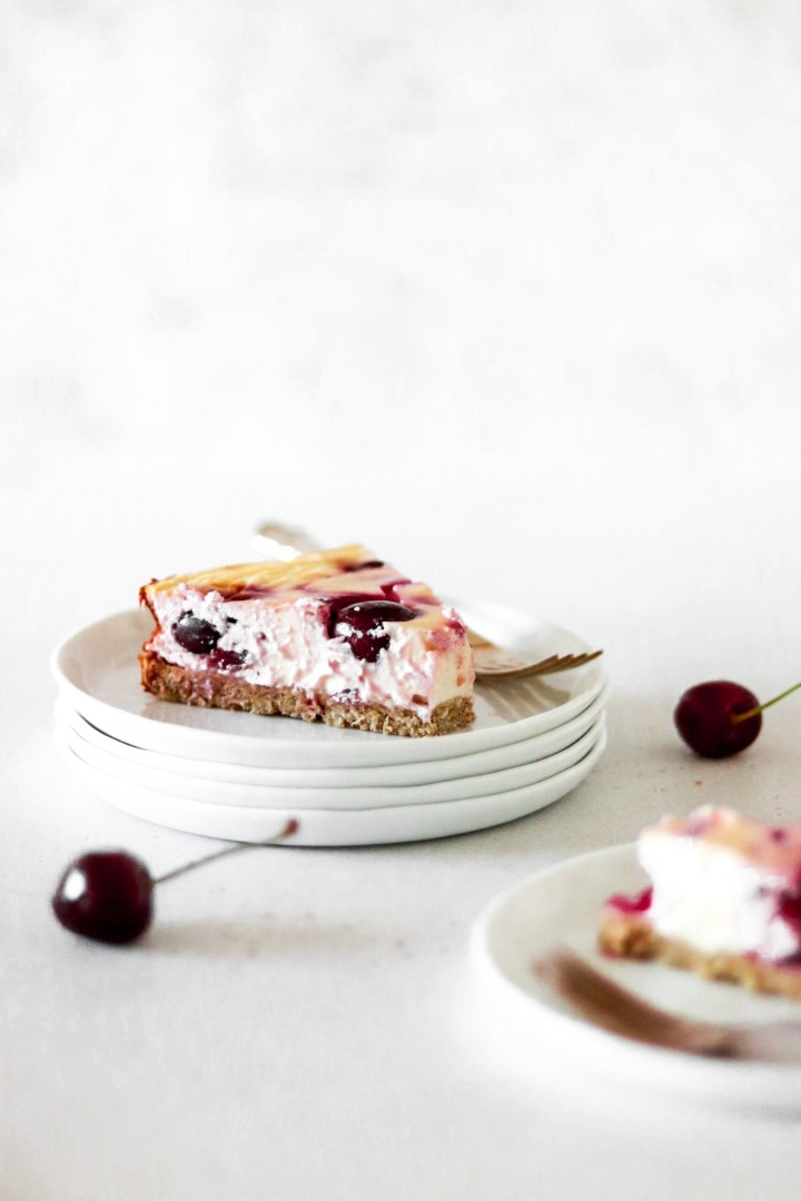 Cherry Cheese Cake (Light & Healthy)