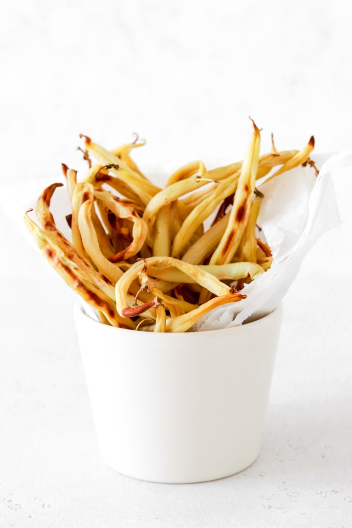 Wax Bean Fries (Oil Free)