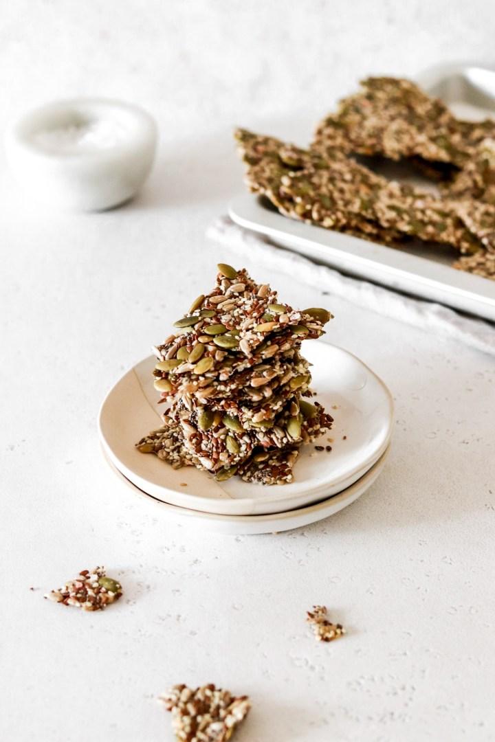 Five Seed Crackers (Vegan, Gluten, Flour & Oil Free)