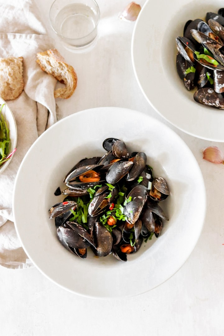 Moule Mariniére with Garlic, Chili & Ginger