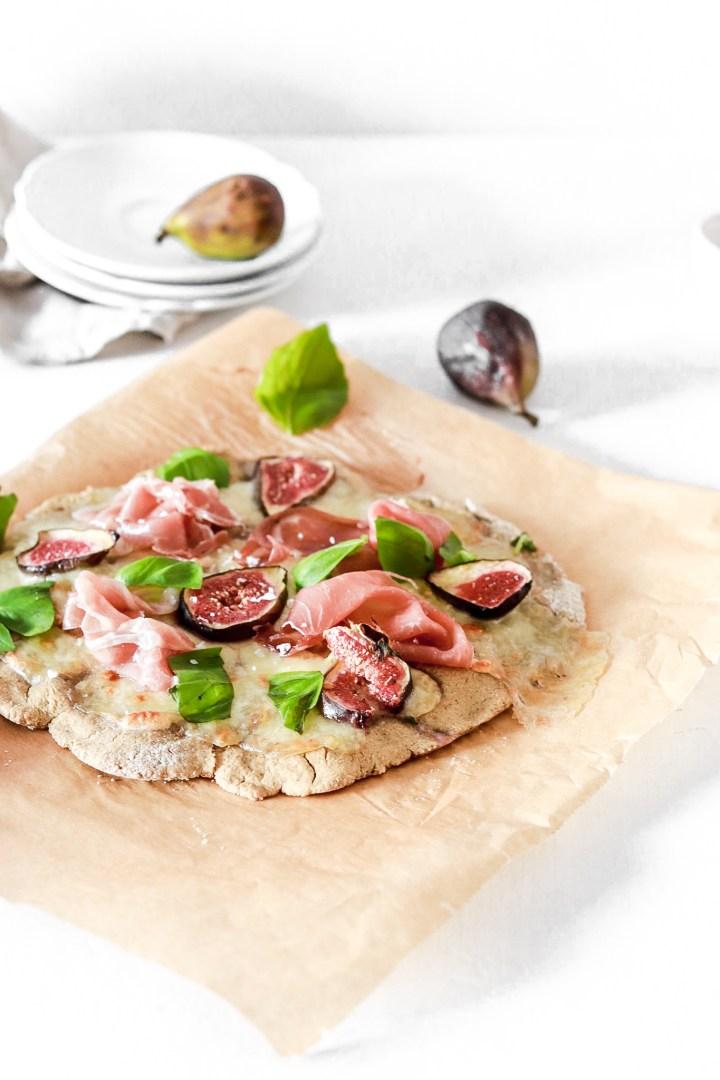 Prosciutto & Fig Flatbread Pizza (Gluten Free)