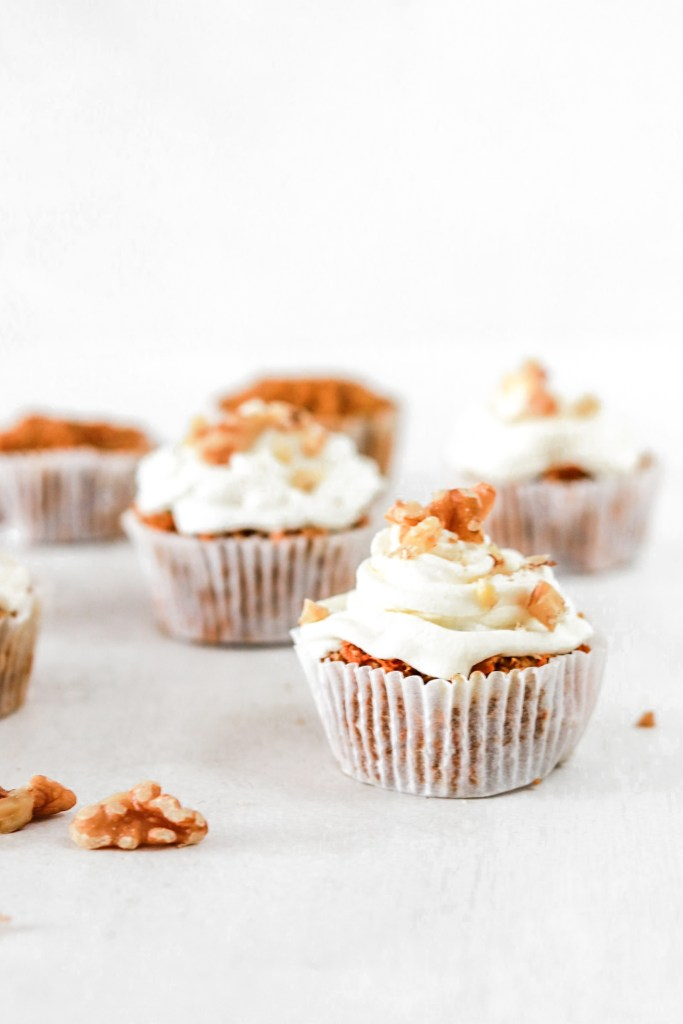 Vegan Carrot Cupcakes from front